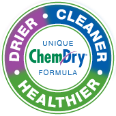 drier cleaner healthier carpet cleaning badge